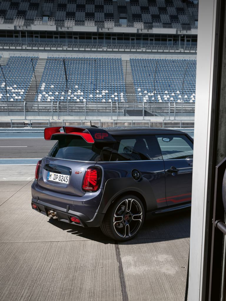 MINI John Cooper Works GP – grey and red – side view